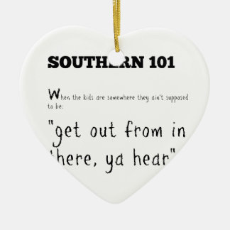 southern101-2 ceramic ornament