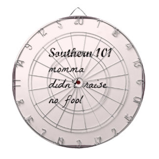 southern101-4 dartboard with darts