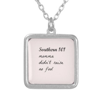 southern101-4 silver plated necklace