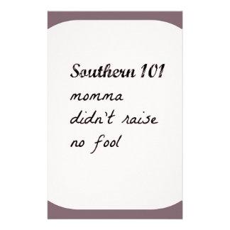 southern101-4 stationery