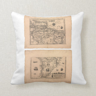 Southern America (1602) Throw Pillow