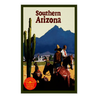 Southern Arizona Retro Travel Poster