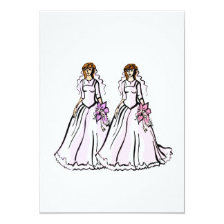 "Southern Belle Brides 5"" X 7"" Invitation Card"