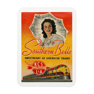 Southern Belle Train Railroad Vintage Magnet
