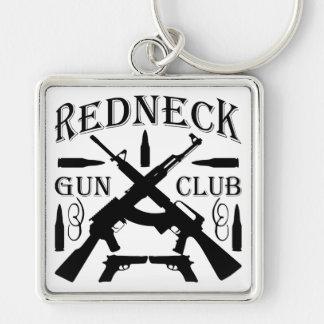 Southern Boy Girl Redneck Gun Club Keychain