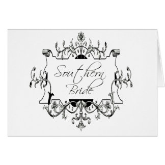 Southern bride card