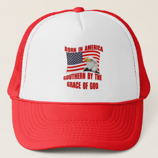 Southern By Grace of God Born American Hats Caps