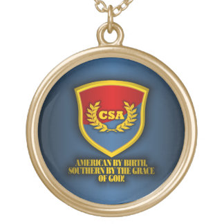 Southern By The Grace Of God (Red & Blue) Gold Plated Necklace