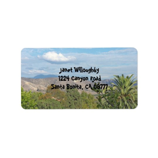 Southern Cali Canyons Label