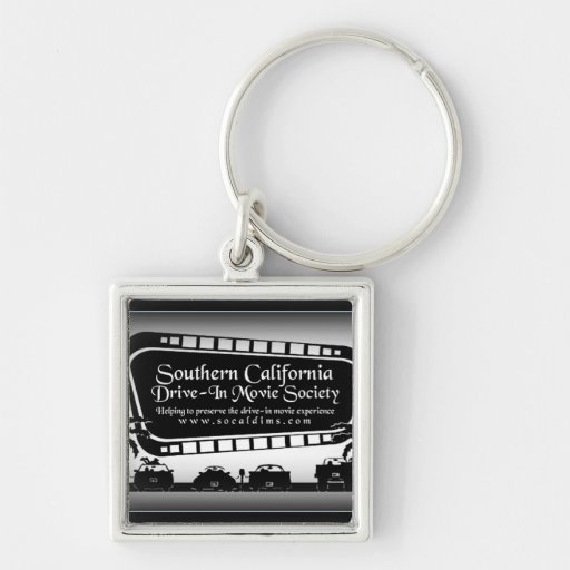 Southern California Drive-In Movie Society Swag Keychain