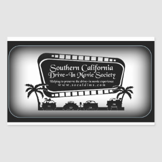 Southern California Drive-In Movie Society Swag Sticker