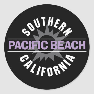 Southern California - Pacific Beach Round Sticker