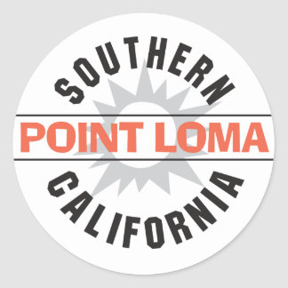 Southern California - Point Loma Round Sticker