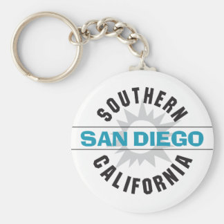 Southern California - San Diego Basic Round Button Keychain