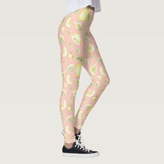 Southern Charm Lemon Pattern Legging