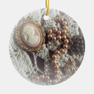 Southern Charm Round Ceramic Ornament