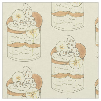 Southern Cooking Banana Pudding Dessert Food Fabric