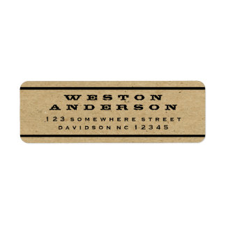 Southern Country Border & Craft Return Address Label