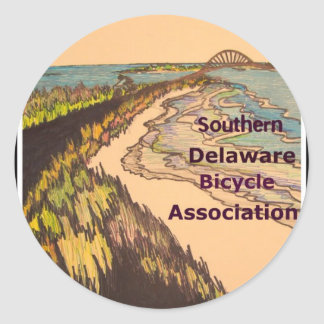 Southern Delaware Bicycle Association logo Round Sticker