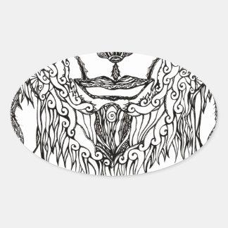 Southern Divinity Oval Sticker