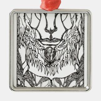 Southern Divinity Silver-Colored Square Ornament