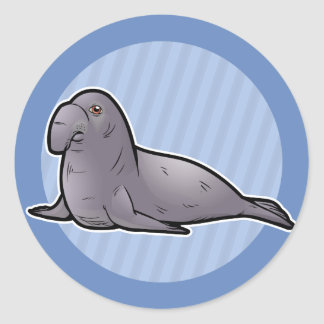 Southern Elephant Seal Round Sticker