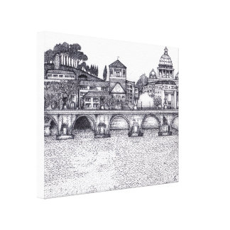 Southern European City Canvas Print