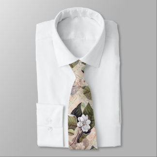 Southern Gent Elegant Vintage Magnolia Tie