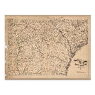 Southern Georgia and part of South Carolina (1865) Postcard