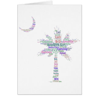 Southern Girl Palmetto Greeting Card
