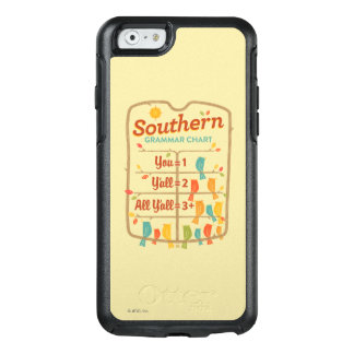Southern Grammar Chart OtterBox iPhone 6/6s Case