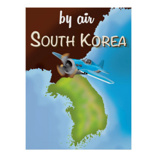 southern korean travel poster