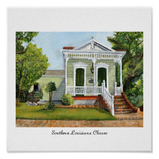 Southern Louisiana Charm Poster