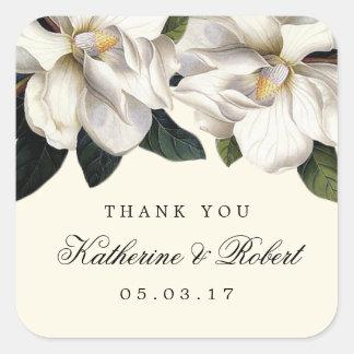 Southern Magnolia Botanical Wedding Favor Stickers