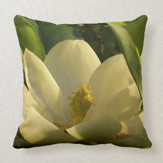 Southern Magnolia Flower Pillow