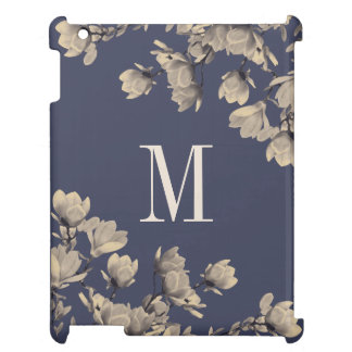Southern Magnolia Flowers & Midnight Blue iPad Cover