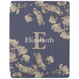 Southern Magnolias & Midnight Blue iPad Cover