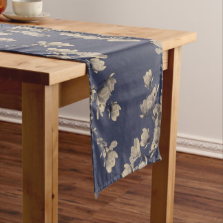 Southern Magnolias & Midnight Blue Short Table Runner