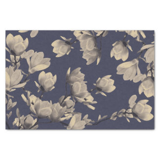 Southern Magnolias & Midnight Blue Tissue Paper
