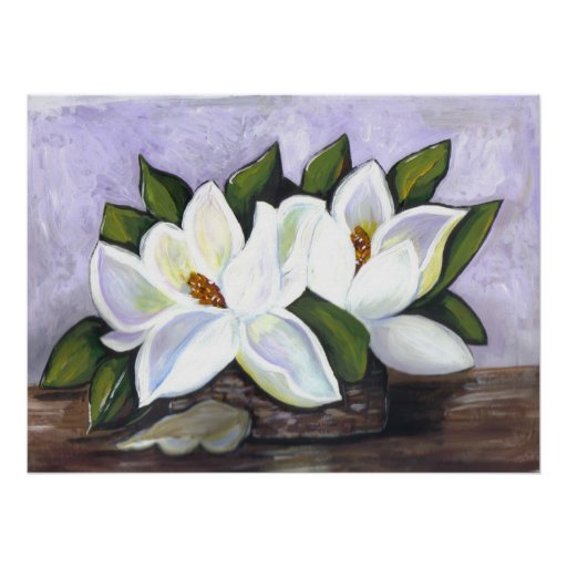 Southern Magnolias Poster