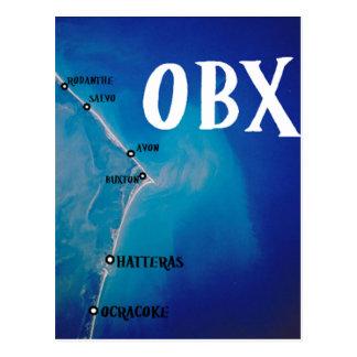 Southern OBX map Postcard