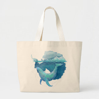 Southern Ocean Whale Sanctuary Large Tote Bag