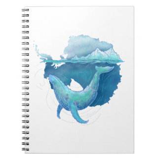 Southern Ocean Whale Sanctuary Spiral Notebook