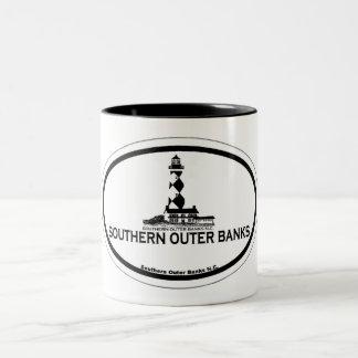 Southern Outer Banks. Two-Tone Coffee Mug