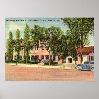 Southern Pacific Depot, Tucson, AZ Vintage Poster