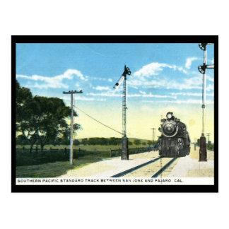 Southern Pacific Railroad, San Jose CA 1923 Vintag Postcard