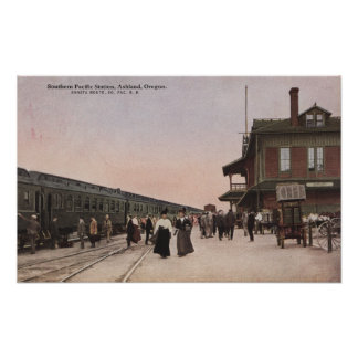 Southern Pacific Railroad Station Poster