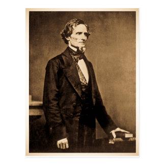 Southern President Jefferson Davis Postcard