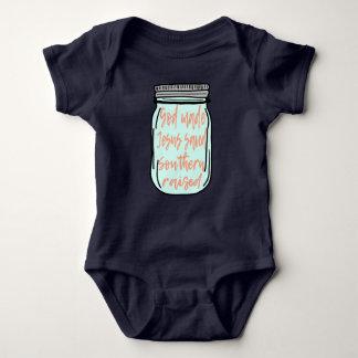 Southern Raised Mason Jar Baby Bodysuit