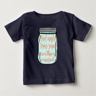 Southern Raised Mason Jar Baby T-Shirt